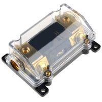 Wholesale Digital Audio Car Amp - ZOOKOTO Digital Display Car Stereo Audio Inline ANL Fuse Holder Transparent Vehicle Insurance Bile Seat Protection 0 2 4 Gauge 100 Amp 100A