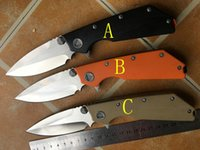 Wholesale Custom Knives Sale - HOT SALE!!Wild Boar & Microtech halo knives Marfione Custom DOC folding Knife ,high-end D2 blade,AKC karambit balisong knives(3 colors)