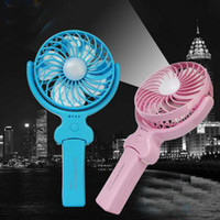 Wholesale Metal Mini Fans - Light Usb Fan Foldable Handle Mini Charging Electric Fans Snowflake Handheld Portable For Home Office Gifts RETAIL BOX DHL