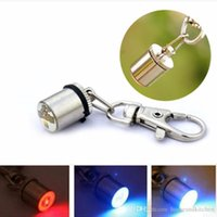 Wholesale Dog Collar Charm Accessories - 2017 Cute Keychain Style Safety Flashing LED Light Pet Dog Collar Signal lamp Pendant Charms Pets Accessories