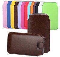 Housse en cuir pour iPhone 4 4S 5S Samsung Galaxy S3 S4 Mini S5 Note 2 3 S7562 HTC ONE M7 M8 Sony Xperia Z1 Z2