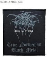 "Wholesale Diy Metal Badges - 4.25"" Darkthrone True Norwegian Black Metal Band patch Heavy Metal Music Rock Punk Rockabilly woven sew on iron on badge party favor diy"