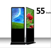 Wholesale Flooring Display Stands - Wholesale 55 inch LCD in convention Display Screen Android Floor Standing LCD Advertising Player Advertising machine with wifi