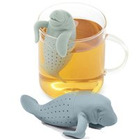 Wholesale Tea Cup Gift Box - Silicone Cute Manatee Tea Infuser Health Drink Herbal Tea Cup Strainer Novelty Drinkware Tea & Beverage Silicone Filter