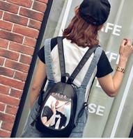 Wholesale Pewter Ribbon - New palaca off white shoulder bag fashion spray lovr painted three backpack handbags shoulder bag backpack