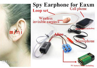Wholesale Earpiece Earphone Hidden - 1pcs super Mini earphone wireless for FBI Hidden Cell Phone nano Earpiece covert Headphone