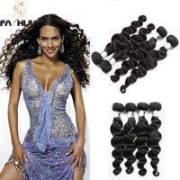 insan saçı örgü renk siyah toptan satış-Düğümsüz Tığ Ipek Bakire Gevşek Derin Örgü Demetleri Doğal Siyah Renk Işlenmemiş Gevşek Brezilyalı Derin Dalga İnsan Saç Uzantıları Atkı