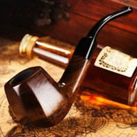 Wholesale High Quality Sheet Sell - Big Sell Ebony Smoke pipe High Quality Wooden Pipe New Fashion Pipe Gift