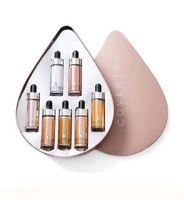 Wholesale face enhancer - New Cover FX Custom Enhancer Drops Face Highlighter Powder Makeup Glow 7color 15ml liquid Highlighters set in stock