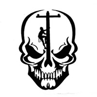 ingrosso jdm adesivo esterno-Skull Lineman Elettricista Power Pole Car Truck Finestra LaptopFunny Decal Sticker Moto Accessori esterni JDM