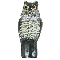 Wholesale Artificial Birds - 1pc Large Realistic Simulation Owl Decoy With Rotating Head Bird Pigeon Crow Scarer Scarecrow Car Home Garden Decoration