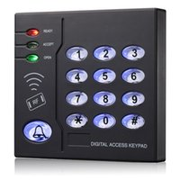 Wholesale keypad reader - Wholesale- 125Khz Waterproof RFID standalone access control system card Reader with keypad