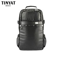 Wholesale Inches For Mini Laptop - Wholesale- TINYAT Men School Backpack Functional Computer 17 INCH Laptop Backpack For Teenagers High Capacity Backpack T807 MichIla Black