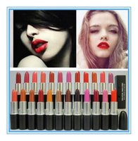 Wholesale Wholesale Brand Name Lipsticks - 3g 24 colors lipstick M Brand New Rubywoo LOVELORN Makeup Luster Frost Lipstick Matte Lipstick with English name
