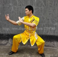Wholesale Chinese wushu uniform Kungfu clothes Martial arts wear taolu outfit taichi garment changquan costume Embroideredfor men women boy girl kids