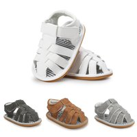 Wholesale baby boy strap sandals - Retail 2017 Summer rubber sole baby boy shoes Fashion baby boy sandals baby boy first walkers