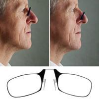 ingrosso mini occhiali da lettura-Easy Carry Clip Naso Occhiali da lettura Uomo Donna Mini Spin Ottica Occhiali presbiti con occhiali da lettura Ultra Thin + 1.5 + 2.0