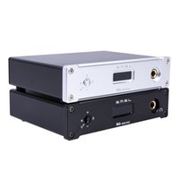Wholesale Amp Enclosure - Freeshipping M6 HiFi Audio Decoder USB OTG DAC 32Bit 384KHz Headphone Amplifier Asynchronous Multifunction AMP Aluminum Enclosure Black