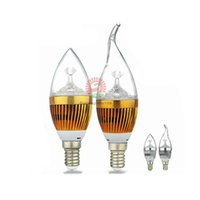 Wholesale bulb e14 12w for sale - E12 E14 E27 LED Candle light bulbs W W W dimmable LED candelabra bulb lamp lighting v v warm nature cool white iris128