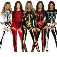 Wholesale Devil Queen Costume - New Halloween Costume Cosplay Skull Witch Vampire Queen Devil Ghost Party Clothing Big Children Women Special Occasions Sexy Clothes HH-C38
