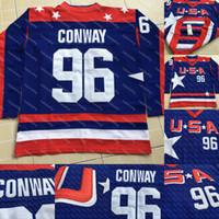 f5cca9fa8 2017 Equipe EUA Filme Hóquei Jerseys   96 Conway Charlie 33 Greg Goldberg  66 Gordon Bombay 99 Adam Banks Mighty Ducks Jerseys