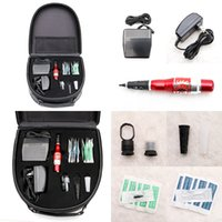 Wholesale Case For Tattoo Machine - Super Permanent Makeup Kits Professional Tattoo Machine Needles Tips Case Caps & Footswitch For Eyebrow Tattooing Tool