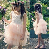 Wholesale Toddler Girl Party Sequin Dresses - Girls Tutu Sequin birthday party Wedding Flower girl Dress kids pageant dress toddler pageant dresses