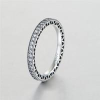anéis de prata esterlina grátis venda por atacado-Anéis de coração do amor para as mulheres S925 Sterling Silver venda se encaixa para o estilo de pandora pulseira e encantos de jóias para as mulheres Frete Grátis Rip105H9