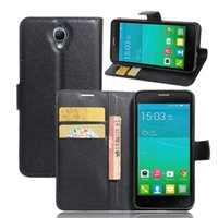 Wholesale One X Flip Case - Case For Alcatel One Touch Idol X Plus OT6043 6043 6043D Cases Magnetic Leather Flip Wallet Cover Case Card Slot