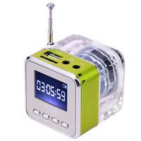 Wholesale Nizhi Light - Portable NiZHi TT029 LED Lights LCD Display Digital Mini Speaker TT-029 Speakers With FM Radio TF Card USB Slot