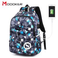 Wholesale 17 Laptop Backpack - ARCTIC HUNTER Modoker Men's extra large Backpack Notebook 14-17 inch USB Travel Waterproof school bags laptop backpacks computer mochila