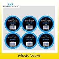 Wholesale wholesale wires - Authentic Vandyvape Mesh Wire KA1 80mesh Ni80 100mesh SS316L 150mesh 200mesh 300mesh 400mesh For Vandy Vape DIY RDA RTA Tank 100% Original