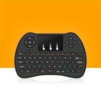usb gamepad para android al por mayor-2.4 GHz Inalámbrico H9 Fly Air Mouse Mini QWERTY Teclado con Touch Pad Android TV Box Control remoto Controlador Gamepad para IPTV T95