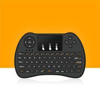 iptv kutuları toptan satış-2.4 GHz Kablosuz H9 Fly Air Fare Mini QWERTY Klavye Dokunmatik Pad ile Android TV Kutusu Uzaktan Kumanda Gamepad Denetleyicisi için IPTV T95
