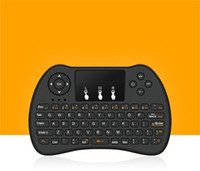 fliegt kontrolle großhandel-2,4 GHz Wireless H9 Fly Air Maus Mini QWERTY Tastatur mit Touchpad Android TV Box Fernbedienung Gamepad Controller für IPTV T95