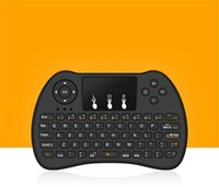 ingrosso telecomando touch tv-2.4GHz Wireless H9 Fly Air Mouse Mini tastiera QWERTY con Touch Pad Android TV Box Telecomando Controller Gamepad per IPTV T95