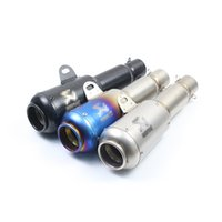Wholesale Stainless Steel Exhaust Muffler - Universal Motorcycle Exhaust Muffler Pipe Stainless Steel Exhaust System With Removable DB Killer Scooter Motorcycle Street Bike 38-51mm