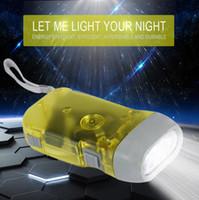 Wholesale Diving Hand Light - Brand New Flashlight 3 LED Hand Pressing Dynamo Crank Power Wind Up Torch Light Hand Press Crank Camping Lamp Lights