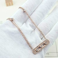 Wholesale Stainless Chain Usa - Sliding Three Crystal Full Cubic Zirconia Diamond double layers Choker Necklace For Women Gold Plated Stainless Steel USA Europe New Jewelry