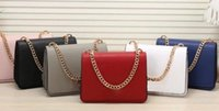 Wholesale Two Tone White Gold Chain - designer handbag pink elegant KALLY famous brand luxury lady PU leather fashion Designer saddle purse shoulder Bag with gold chain