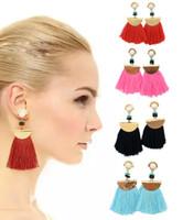 Wholesale Elegant Fashion Jewellery - Women'S Girls Elegant Jewellery Bohemia Ethnic Tassels Dangle Stud Earrings Eardrop Casual Jewelry Fashion Earrings 4 Styles B650L