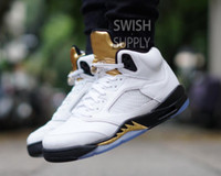 Wholesale Marks Shoes - New 2016 air retro 5 V man basketball shoes Bronze Olympic grape Black Metallic Gold Fire Red green Bean Mark Ballas sport sneakers