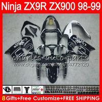 Wholesale Ninja Zx9r 1998 - 8Gift 23Color For KAWASAKI NINJA ZX900 ZX9R 98 99 00 01 900CC 48HM12 Black CORONA ZX-9R ZX 9 R ZX900C ZX 9R 1998 1999 2000 2001 Fairing kit