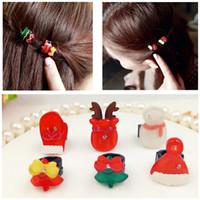 Wholesale Girls Hair Clip Holder - Christmas gift Girls Kids Mini Hairpins Hair Clip Barrettes children Hair Holder Headwear Accessories Dot Bow Hair Claws Clip A7396