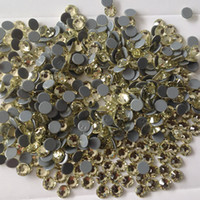 Wholesale supplier heat transfer rhinestone ss20 jonquil color each pack clothign crystal hotfix supplier