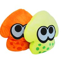 Wholesale Cool Stuff Free Shipping - 35CM(13.7inch) Anime Splatoon Cool Squid Pillow Plush Soft Stuffed Doll Toy for kids gift free shipping