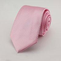 Wholesale Tecido Polyester - 7 CM pink Dots laços Corbatas Laços Para Homens Ternos Finos Vestidos Da Moda Tecido Gravata Gravatás Laços Do Partido Do Vintage