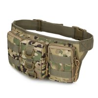 Wholesale Cycling Messenger Bags - 2017 Fashion New Arrival Outdoor Camouflage Waist Bag Hot Professional Camping And Hiking Tactical Pouch New Cycling Molle Bag