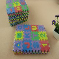 Wholesale Kids Interlocking Floor Mats Wholesale - Wholesale- Interlocking EVA Foam Alphabet Letters Numbers Floor Soft Baby Mat Puzzle Kids Drop shipping