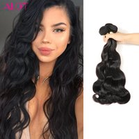 ALOT Hair Weave Bundles Brazilian Indian Peruano Malaio Virgem Cabelo Corpo Onda Cabelo Humano 3 Pacotes 100% Unprocessed Extensions 8-28 Inch